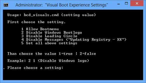 Visual Boot Experience